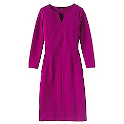 Lands' End - Pink women's regular notched neck ponte shift dress