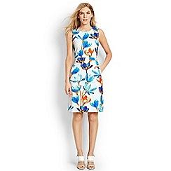 Lands' End - Blue digital print welt pocket shift dress