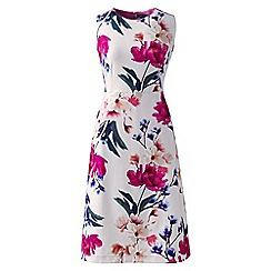 Lands' End - Multi digital print welt pocket shift dress