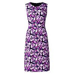 Lands' End - Black digital print welt pocket shift dress