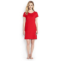 Lands' End - Orange regular loopback cotton jersey t-shirt dress