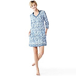Lands' End - Blue cotton lawn tunic cover-up