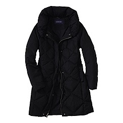 Lands' End - Black women's chalet down shawl collar coat