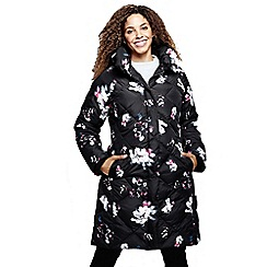 Lands' End - Multi print chalet down shawl collar coat