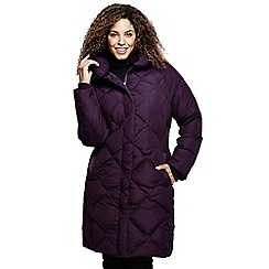 Lands' End - Red women's chalet down shawl collar coat