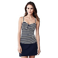Lands' End - Blue striped beach living tankini top