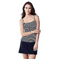 Lands' End - Blue striped d-cup beach living tankini top