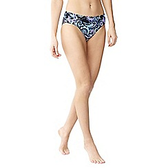 Lands' End - Multi beach living mid rise paisley bikini bottoms