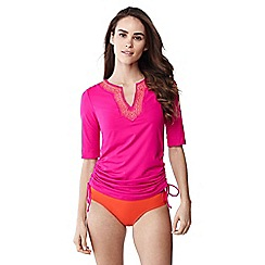 Lands' End - Pink adjustable swim rash guard