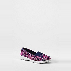 Lands' End - Purple  wide alpargata slip-on shoes