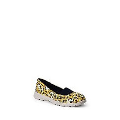 Lands' End - Yellow  wide alpargata slip-on shoes