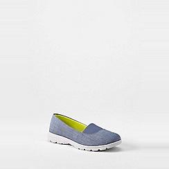 Lands' End - Blue  wide alpargata slip-on shoes