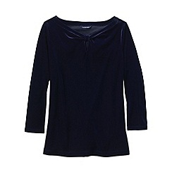 Lands' End - Blue women's velvet keyhole top