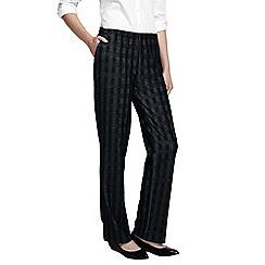 Lands' End - Black glen plaid jacquard sport knit trousers