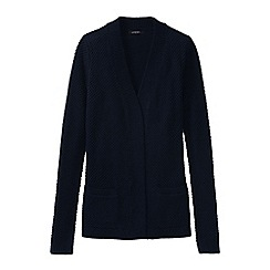 Lands' End - Blue women's lofty open cardigan