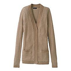 Lands' End - Beige lofty open cardigan