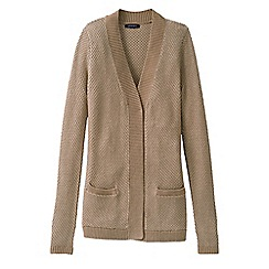 Lands' End - Beige women's lofty open cardigan