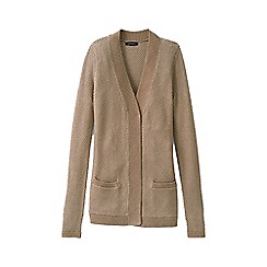 Lands' End - Beige plus lofty open cardigan