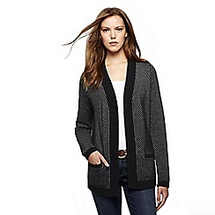 Lands' End - Black women's lofty open cardigan