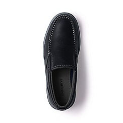 Lands' End - Black regular lightweight comfort leather slip-on shoes