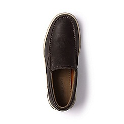 Lands' End - Brown regular lightweight comfort leather slip-on shoes