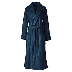 Lands' End - Blue plush fleece dressing gown