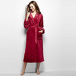 Lands' End - Pink women's plush fleece dressing gown
