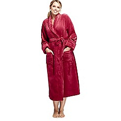 Lands' End - Pink women's plush fleece dressing gown