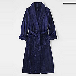 Lands' End - Purple plush fleece dressing gown