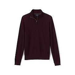 Lands' End - Purple fine gauge cashmere quarter zip