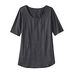 Lands' End - Grey women's cotton/modal scoop neck tunic