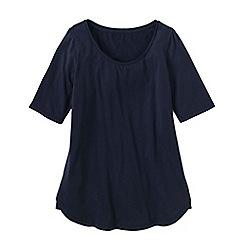 Lands' End - Blue women's cotton/modal scoop neck tunic