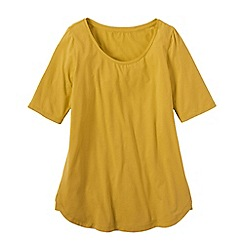 Lands' End - Gold women's cotton/modal scoop neck tunic