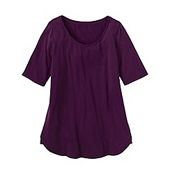 Lands' End - Purple women's cotton/modal scoop neck tunic