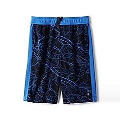 Lands' End - Boys' Black patterned active shorts
