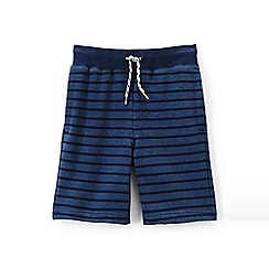 Lands' End - Boys Toddler Blue loopback jersey stripe shorts