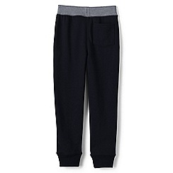 Lands' End - Boys' Black loopback jersey sweatpants