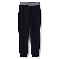 Lands' End - Boys' Black loopback jersey sweatpants