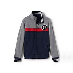 Lands' End - Grey boys' zip-front sweatshirt jacket