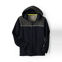 Lands' End - Boys' Black active zip-front hoodie
