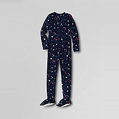 Lands' End - Blue girls' fleece onesie