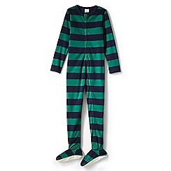 Lands' End - Green boys' fleece onesie