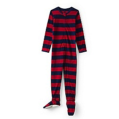 Lands' End - Boys' red fleece onesie