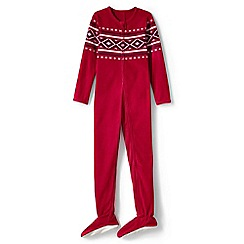 Lands' End - Red boys' fleece onesie