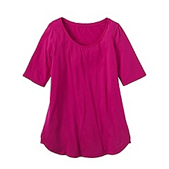 Lands' End - Pink women's cotton/modal scoop neck tunic