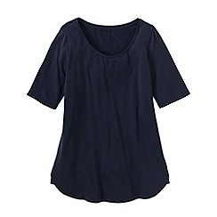 Lands' End - Blue women's cotton/modal scoop neck tunic