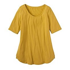 Lands' End - Gold petite cotton/modal scoop neck tunic