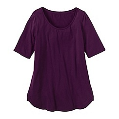 Lands' End - Purple cotton/modal scoop neck tunic