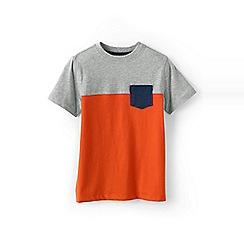Lands' End - Orange boys' colourblock tee