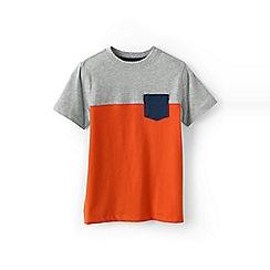 Lands' End - Orange boys' colourblock tee